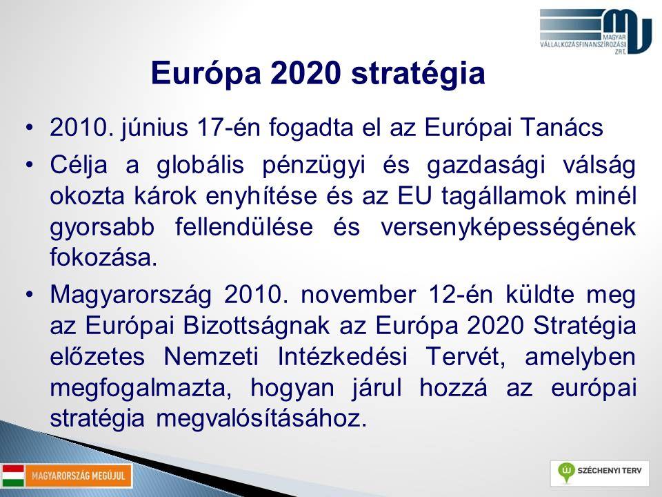 Európa 2020 stratégia 2010. június 17-én fogadta el az Európai Tanács