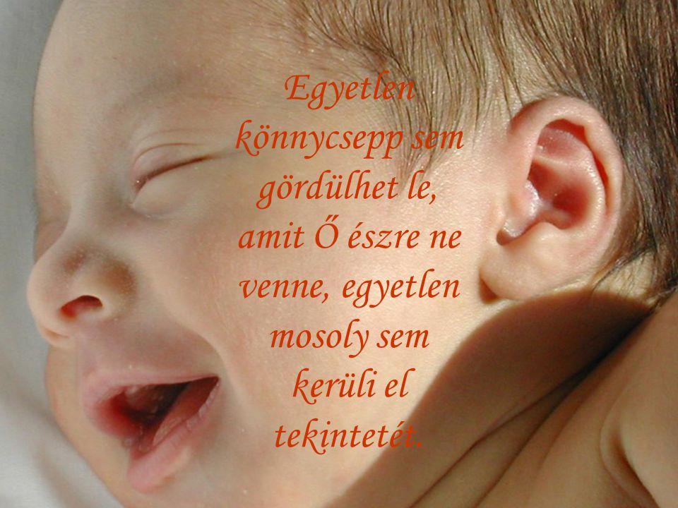 Egyetlen könnycsepp sem gördülhet le, amit Ő észre ne venne, egyetlen mosoly sem kerüli el tekintetét.