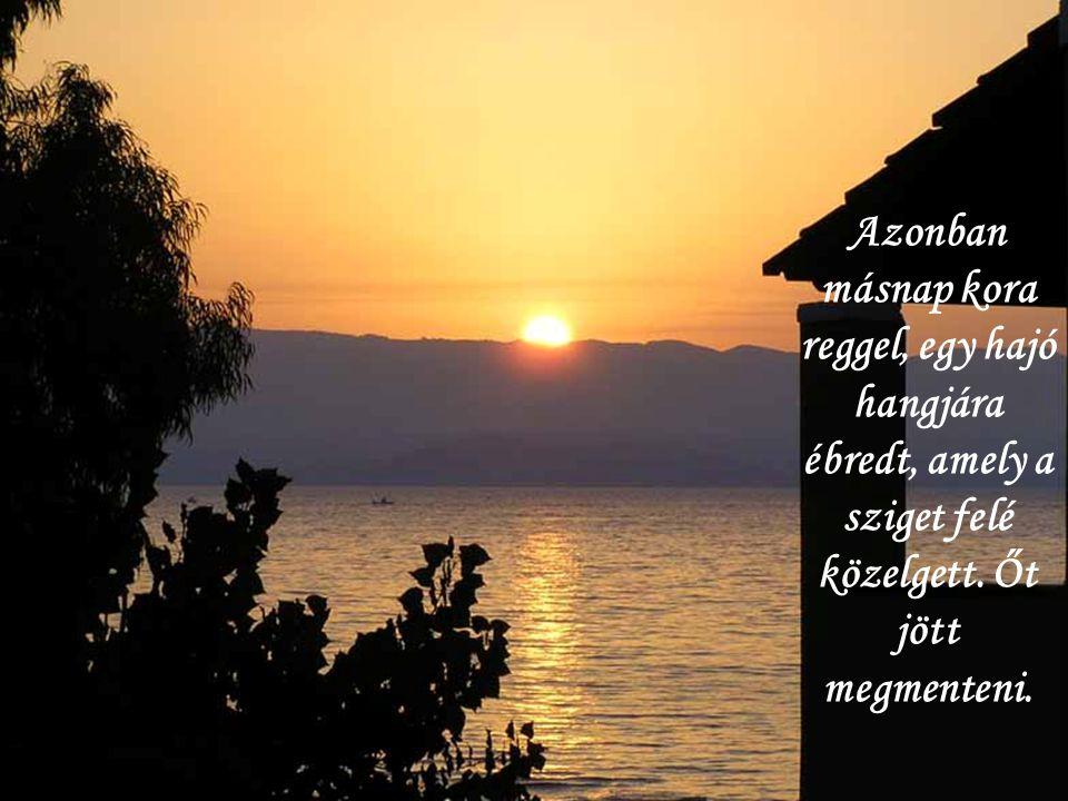 Azonban másnap kora reggel, egy hajó hangjára ébredt, amely a sziget felé közelgett.