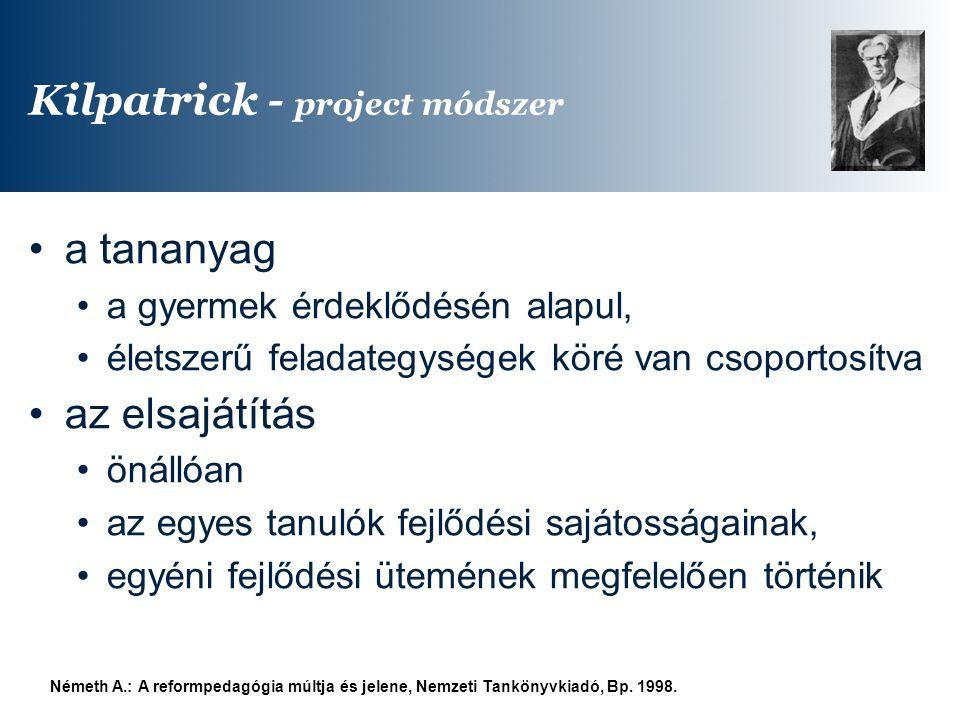 Kilpatrick - project módszer