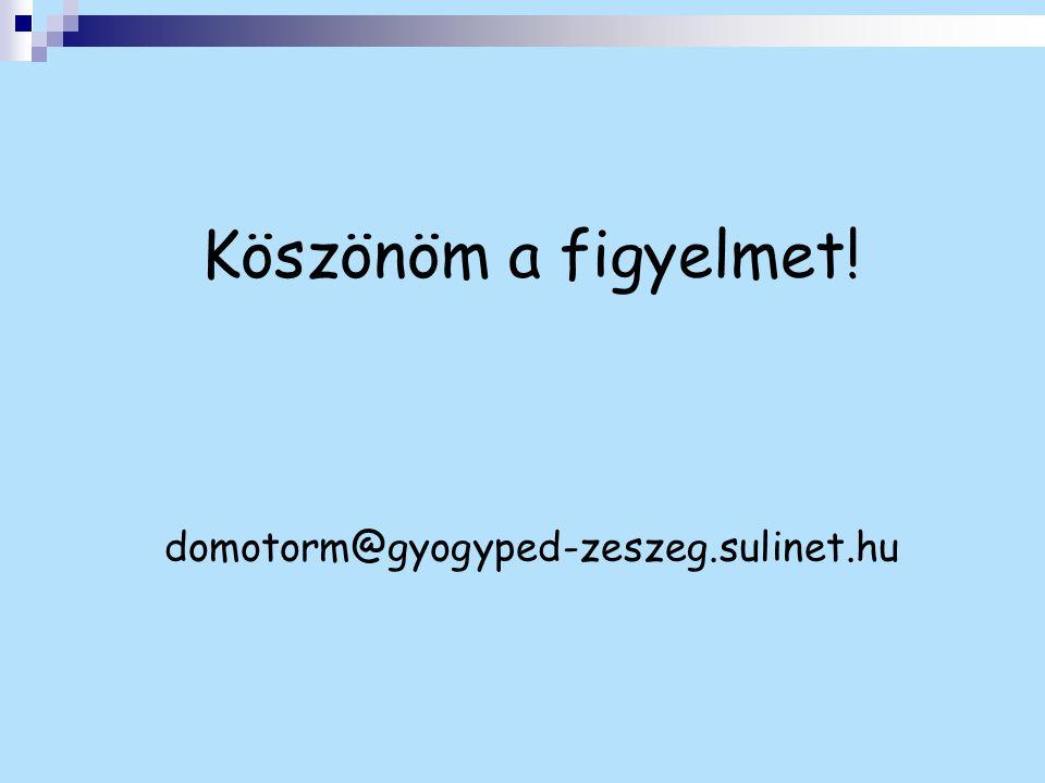 Köszönöm a figyelmet! domotorm@gyogyped-zeszeg.sulinet.hu