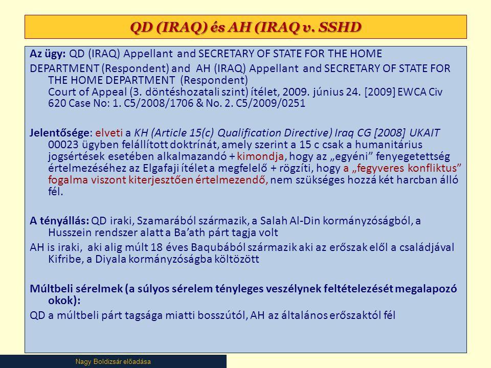 QD (IRAQ) és AH (IRAQ v. SSHD
