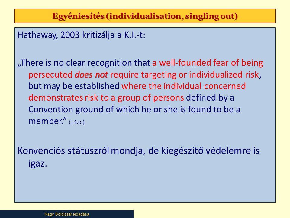 Egyéniesítés (individualisation, singling out)