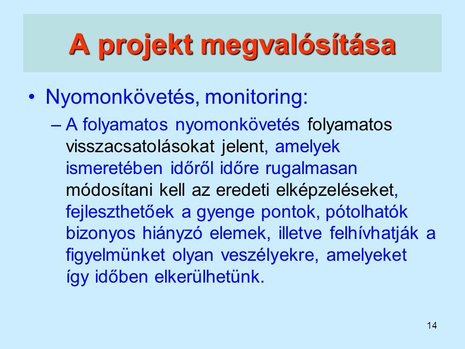A projekt megvalósítása