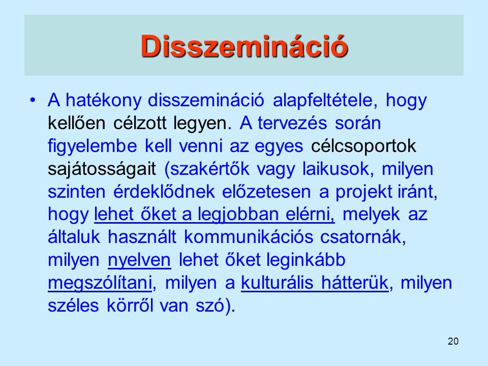 Disszemináció