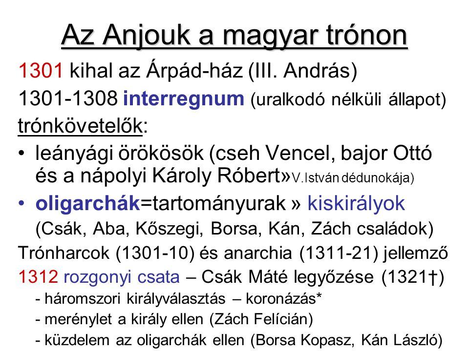 Az Anjouk a magyar trónon