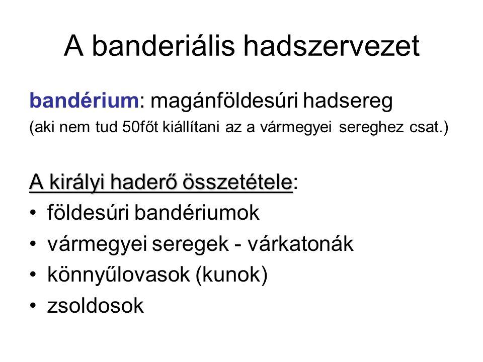 A banderiális hadszervezet