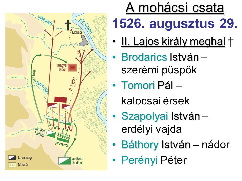 A mohácsi csata 1526. augusztus 29.