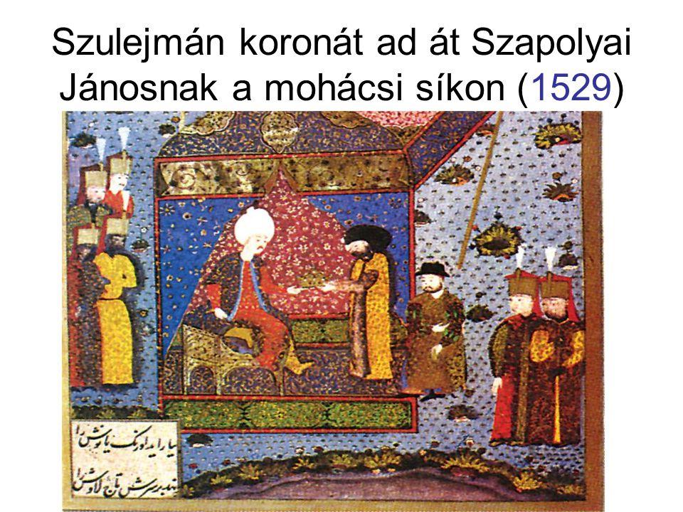 Szulejmán koronát ad át Szapolyai Jánosnak a mohácsi síkon (1529)