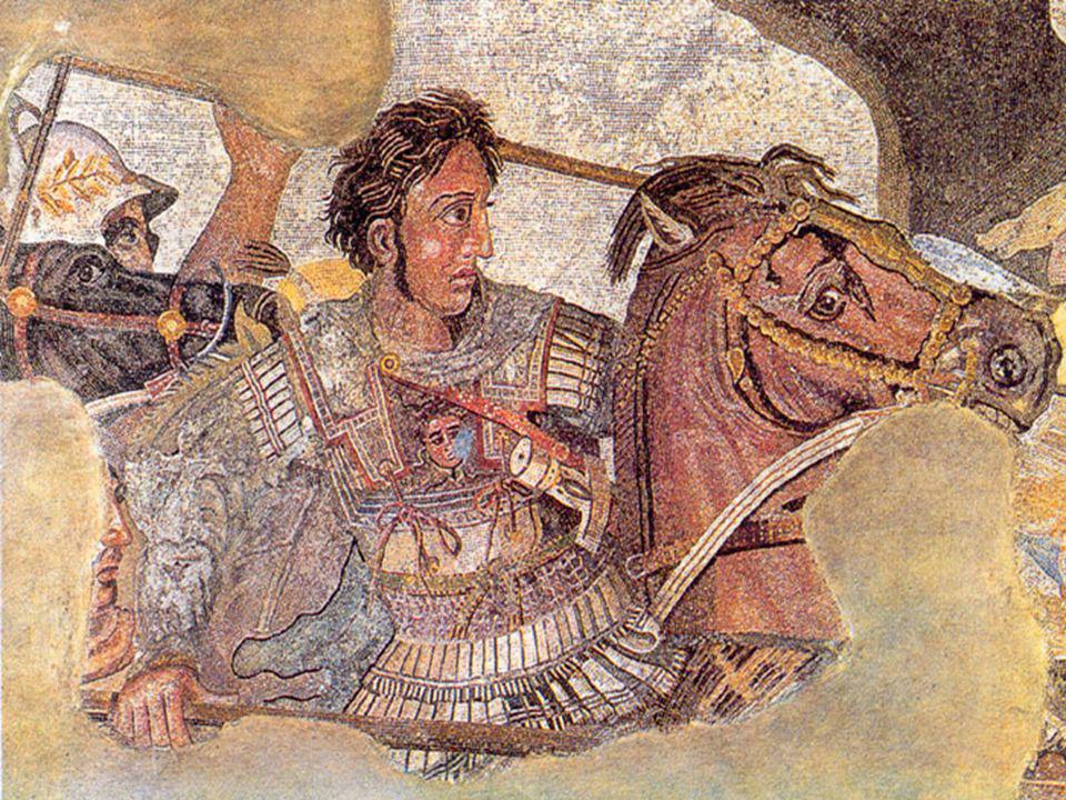 Nagy Sándor Bukephaloson az isszoszi csatában; mozaikrészlet (Kr. e