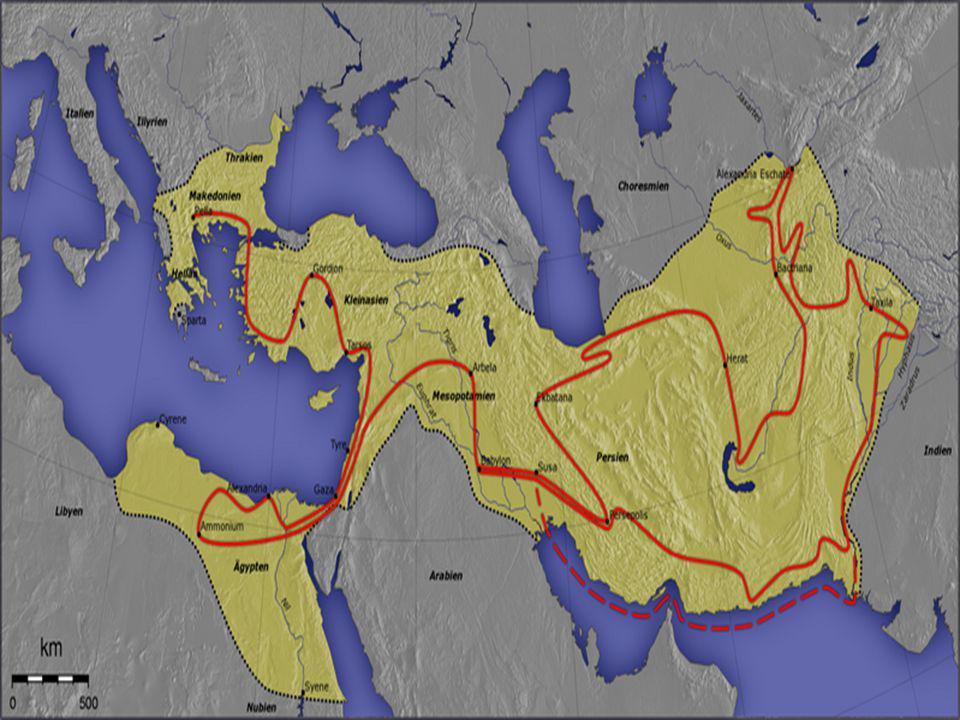 Nagy Sándor hadjáratainak útvonala