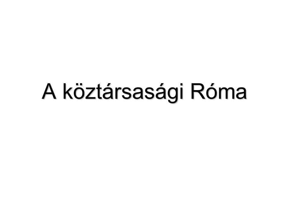 A köztársasági Róma