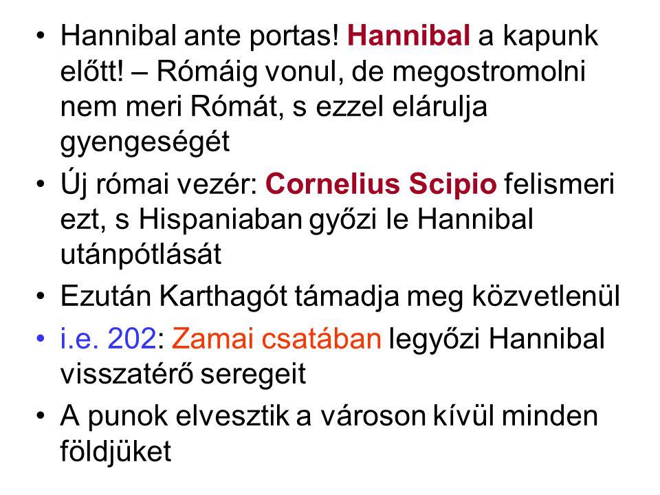 Hannibal ante portas. Hannibal a kapunk előtt