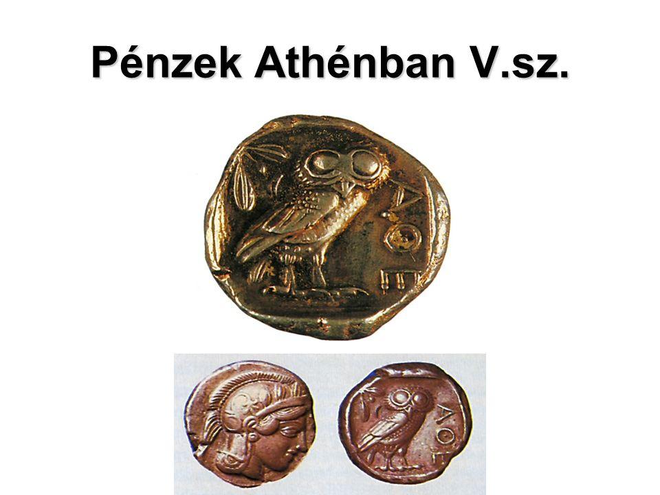 Pénzek Athénban V.sz.
