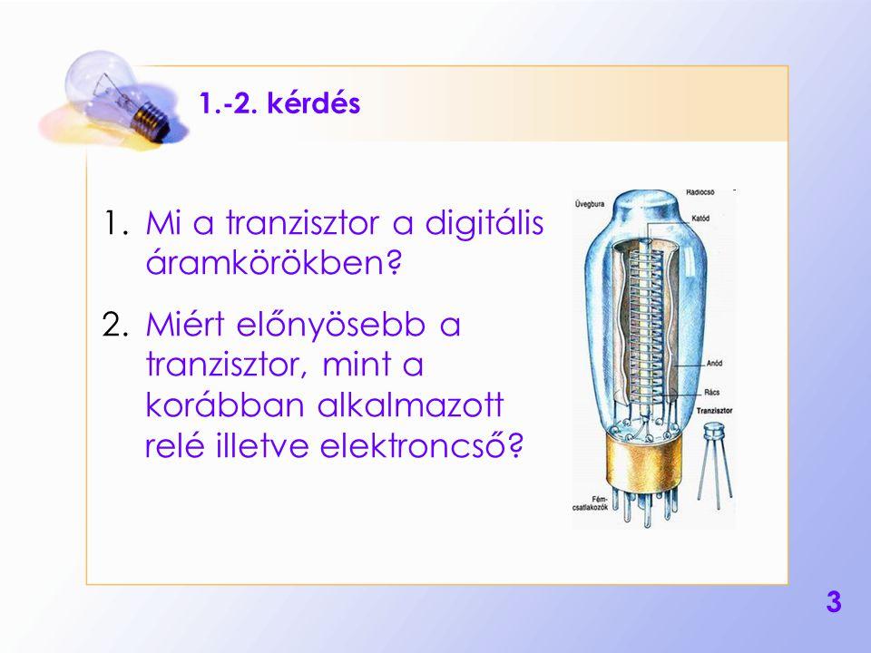 Mi a tranzisztor a digitális áramkörökben