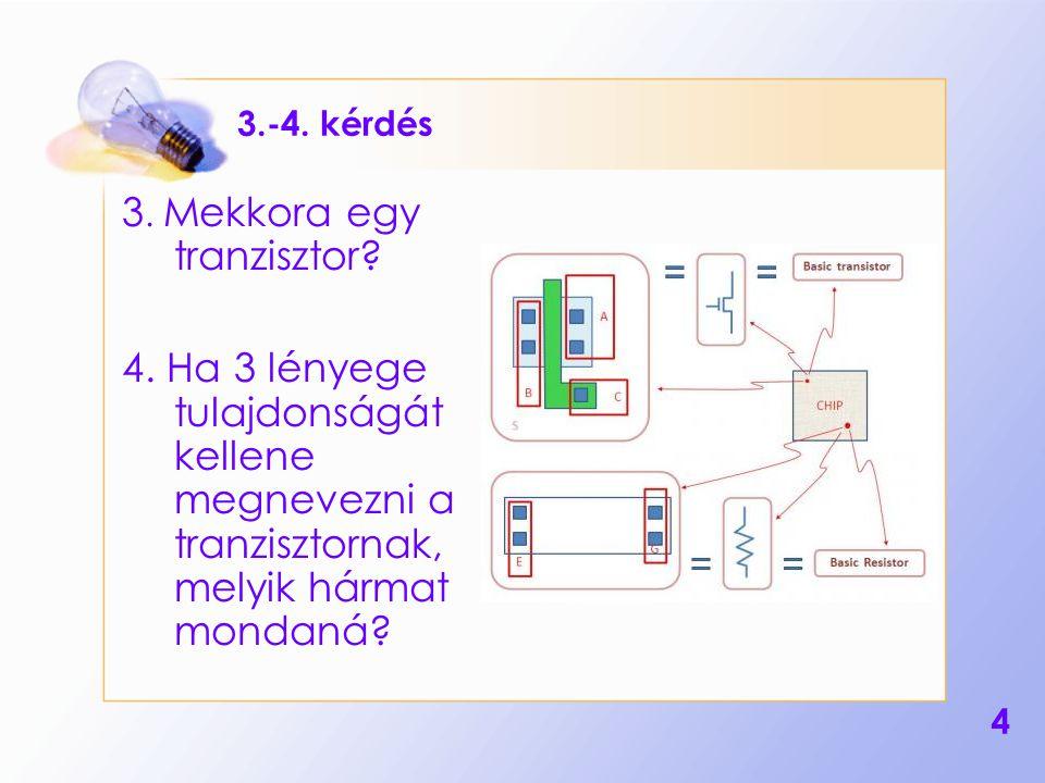 3. Mekkora egy tranzisztor