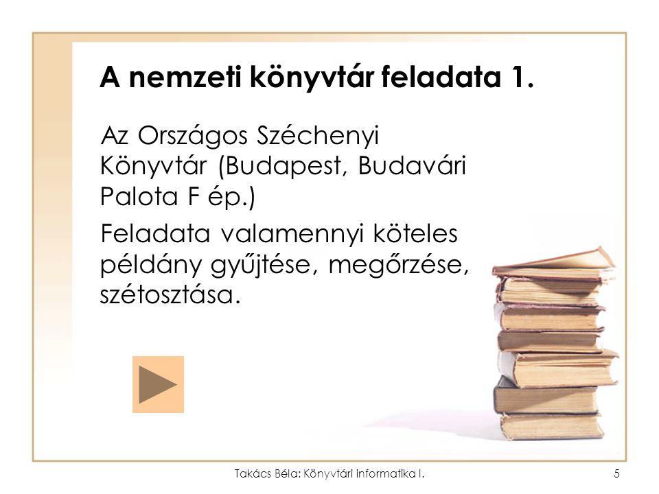 A nemzeti könyvtár feladata 1.