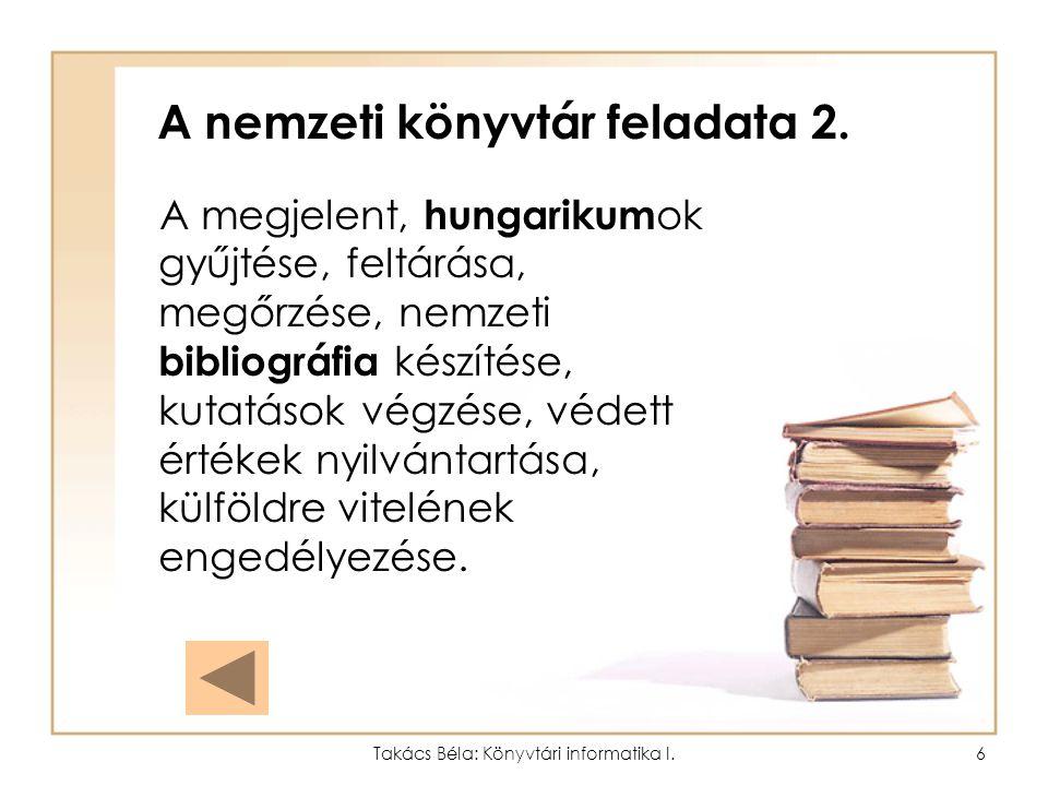 A nemzeti könyvtár feladata 2.