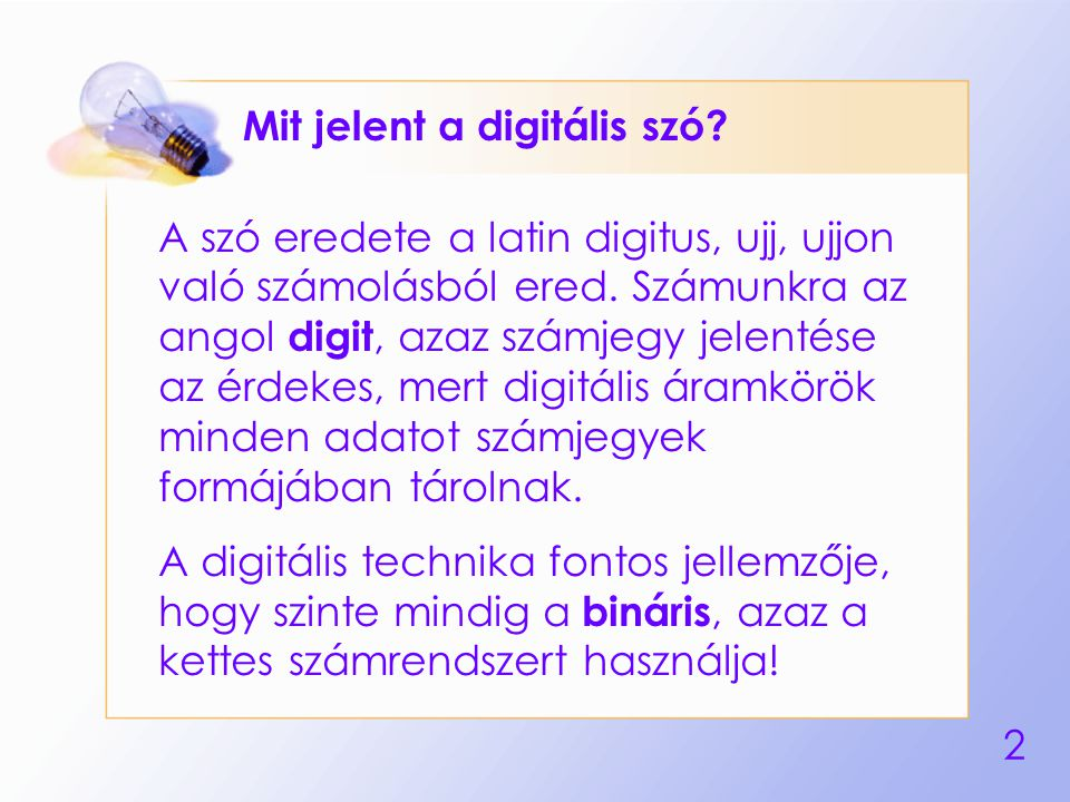 Mit jelent a digitális szó