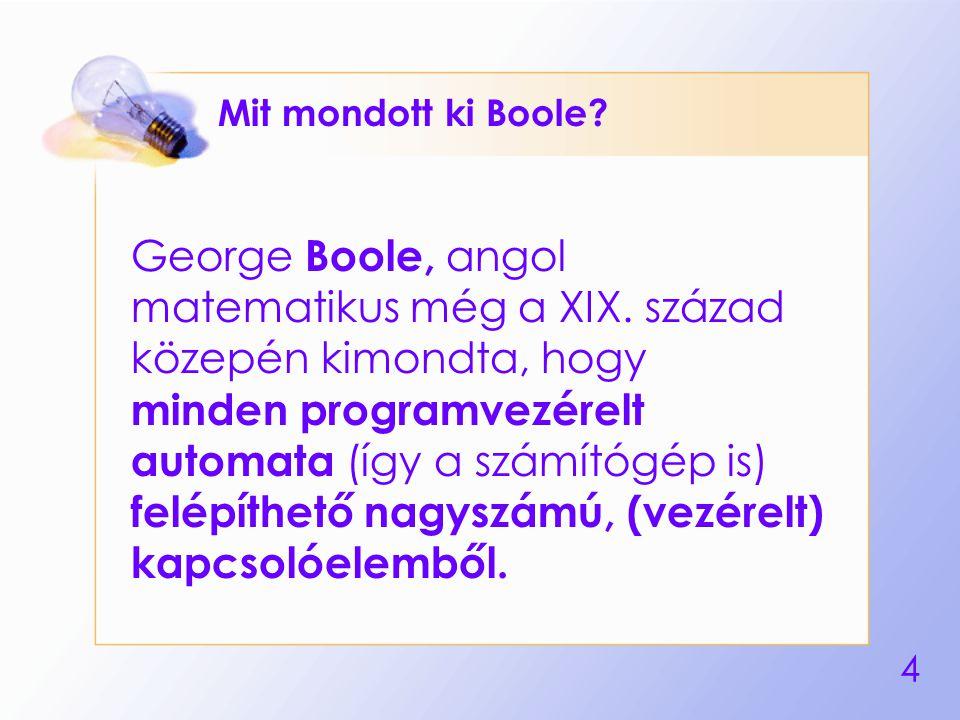 Mit mondott ki Boole