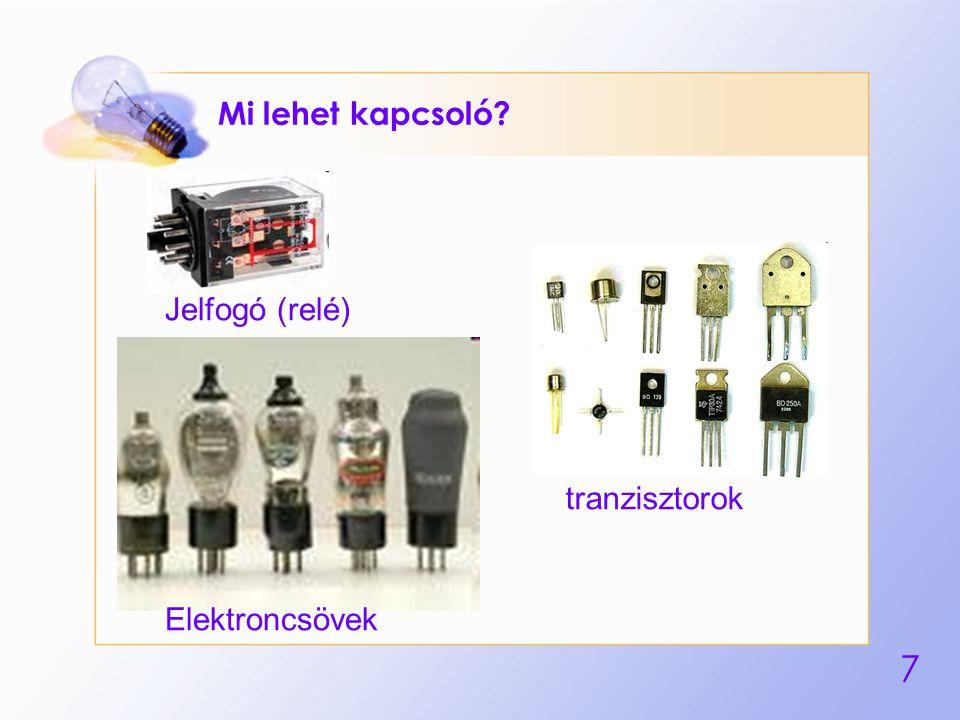Mi lehet kapcsoló Jelfogó (relé) tranzisztorok Elektroncsövek