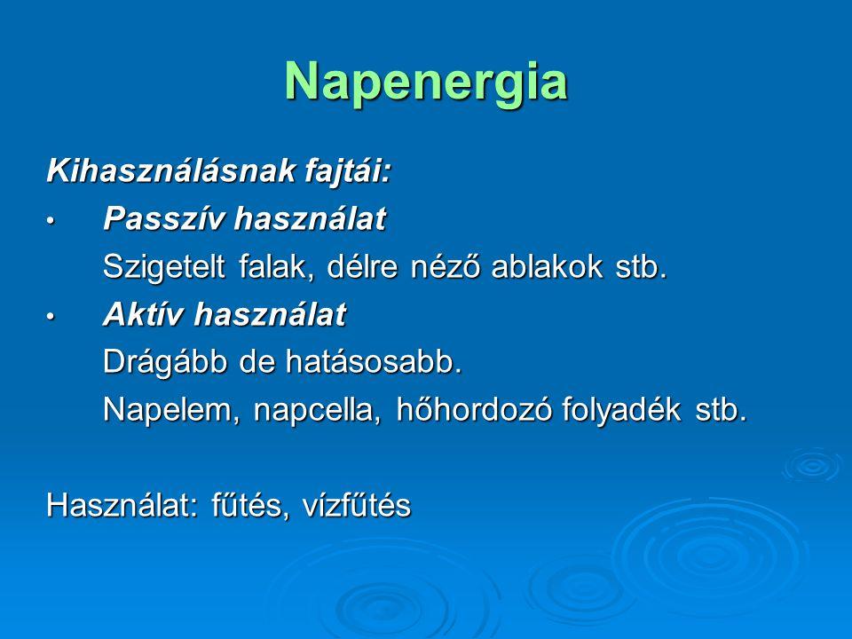 Napenergia Kihasználásnak fajtái: Passzív használat