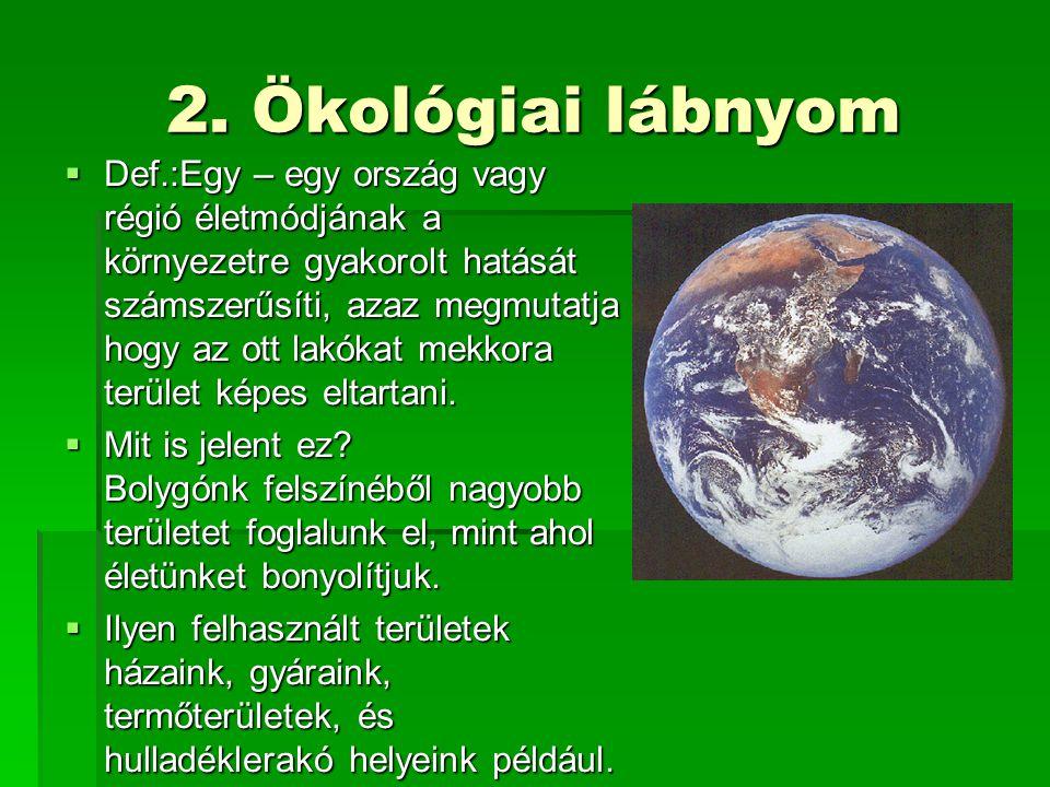 2. Ökológiai lábnyom