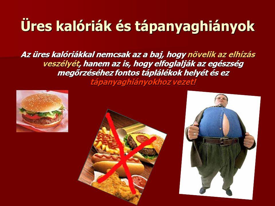 Üres kalóriák és tápanyaghiányok