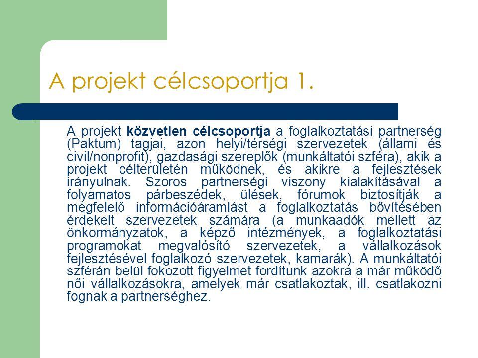 A projekt célcsoportja 1.