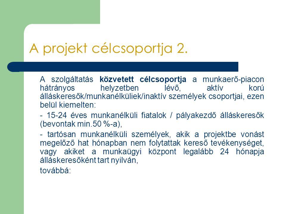 A projekt célcsoportja 2.