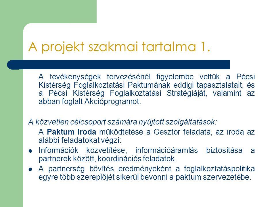 A projekt szakmai tartalma 1.