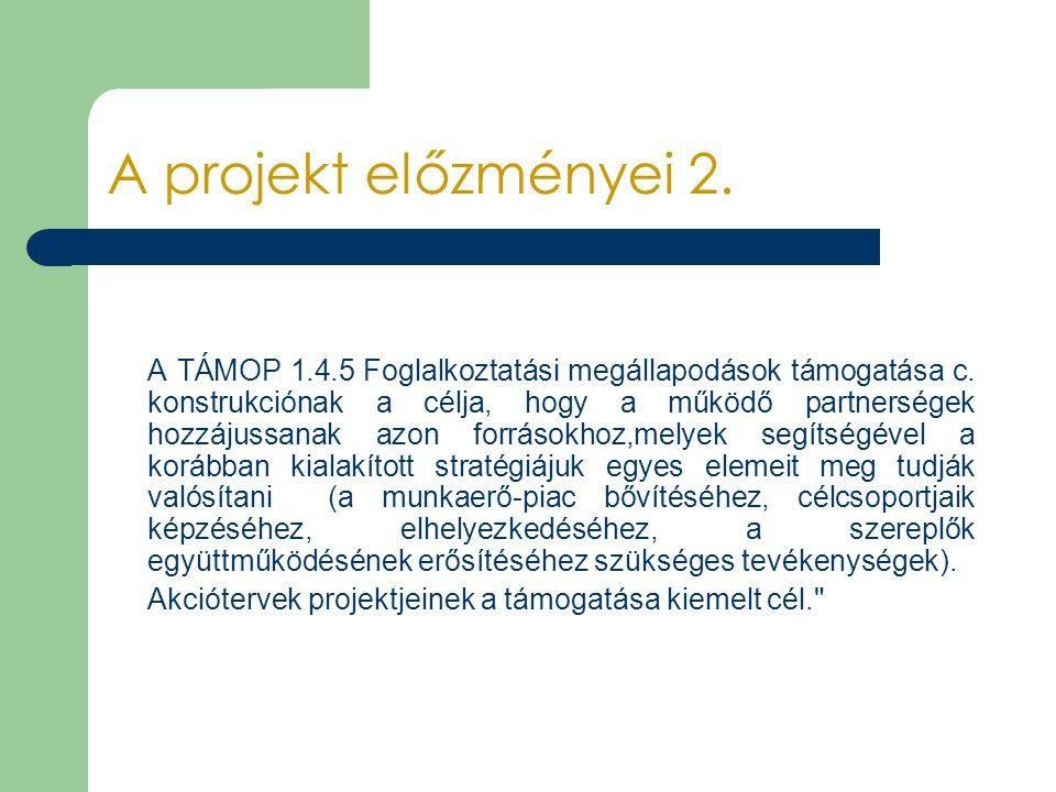 A projekt előzményei 2.
