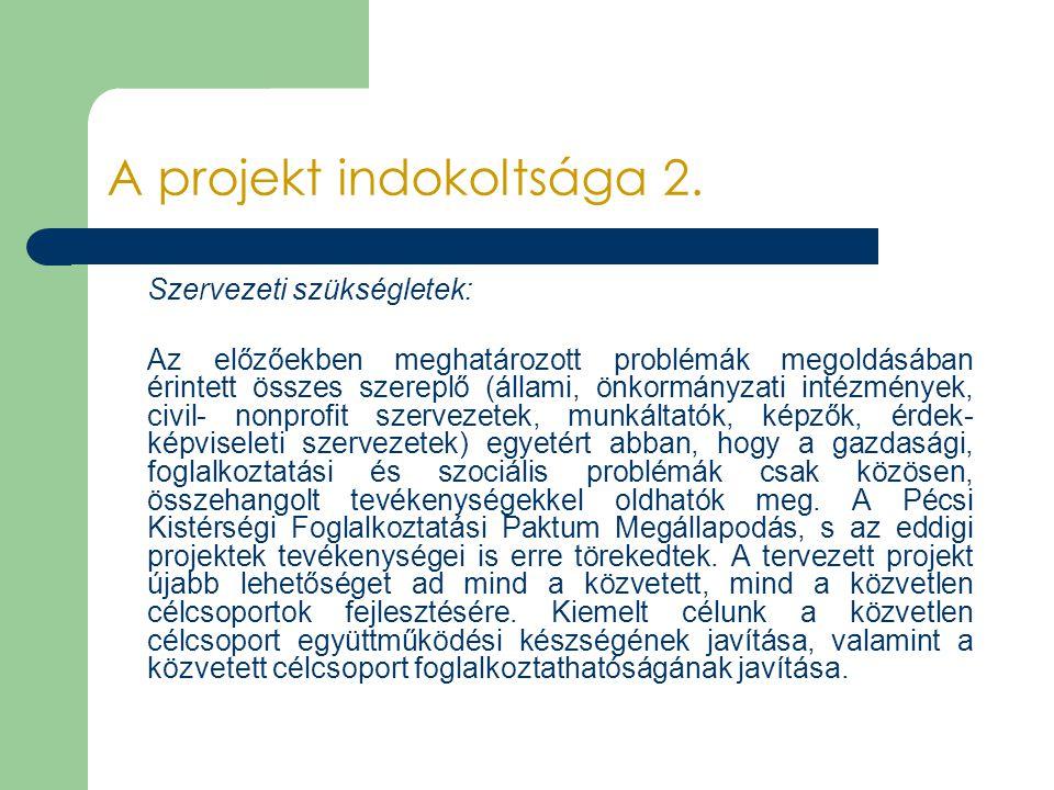 A projekt indokoltsága 2.
