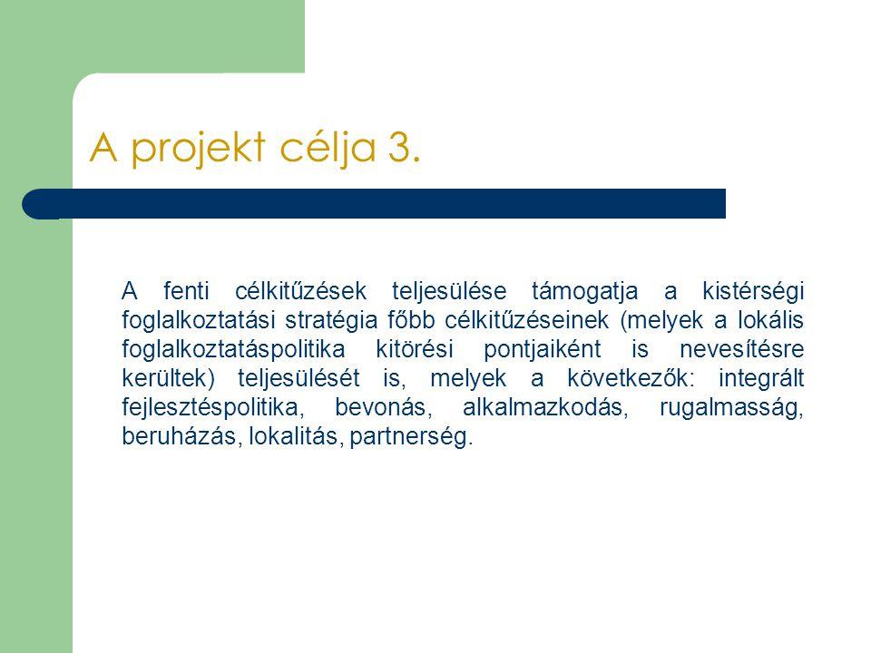 A projekt célja 3.