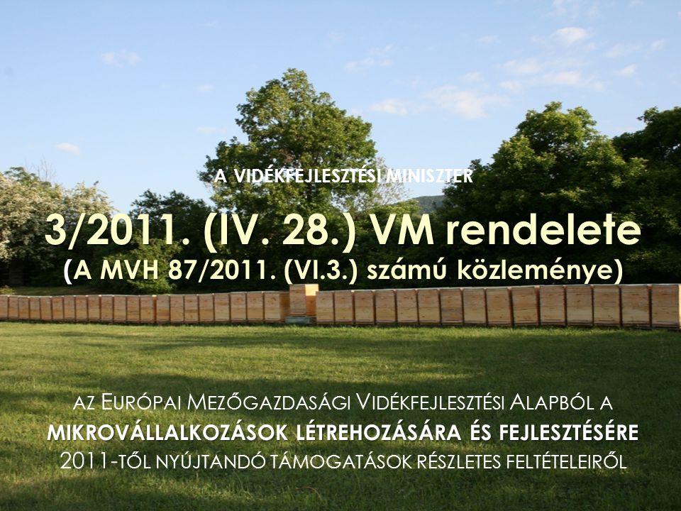 a vidékfejlesztési miniszter 3/2011. (IV. 28