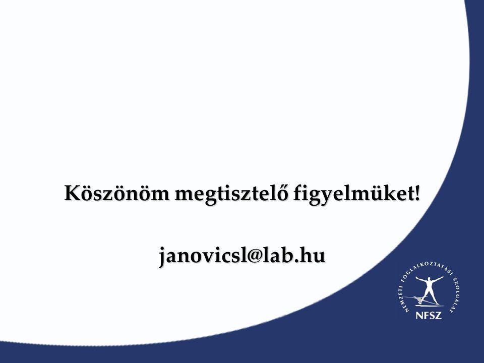 Köszönöm megtisztelő figyelmüket! janovicsl@lab.hu