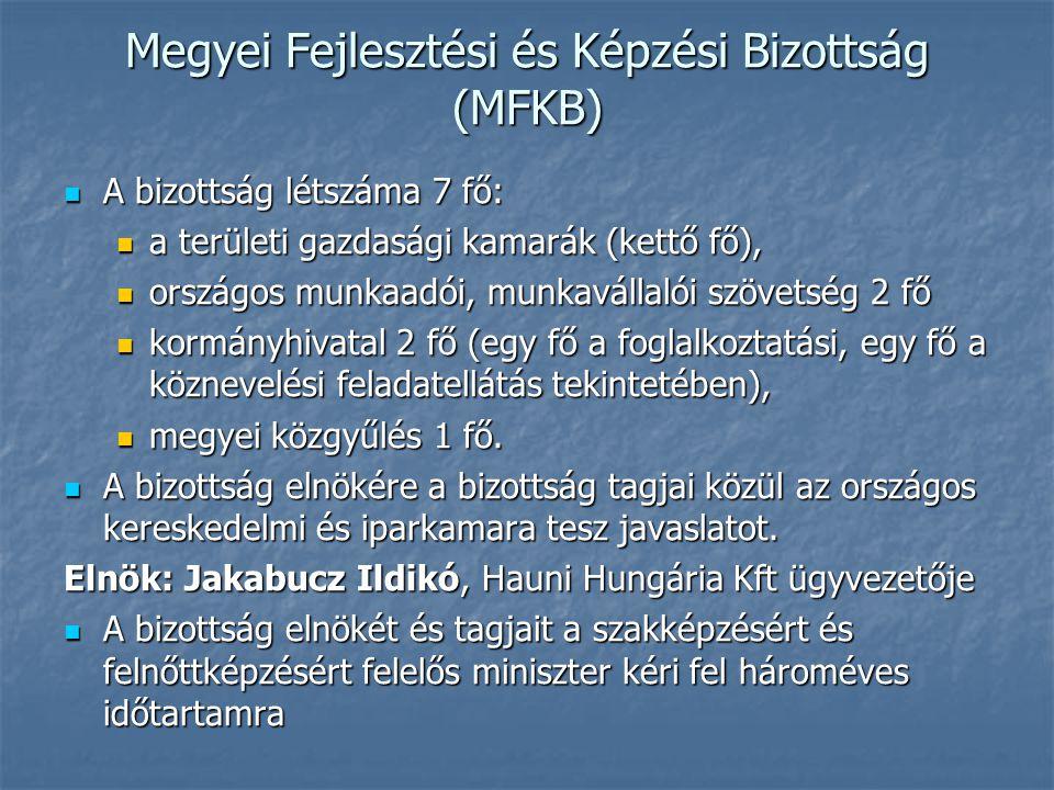 Megyei Fejlesztési és Képzési Bizottság (MFKB)