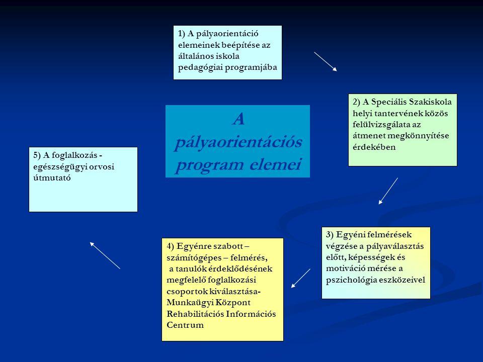 A pályaorientációs program elemei