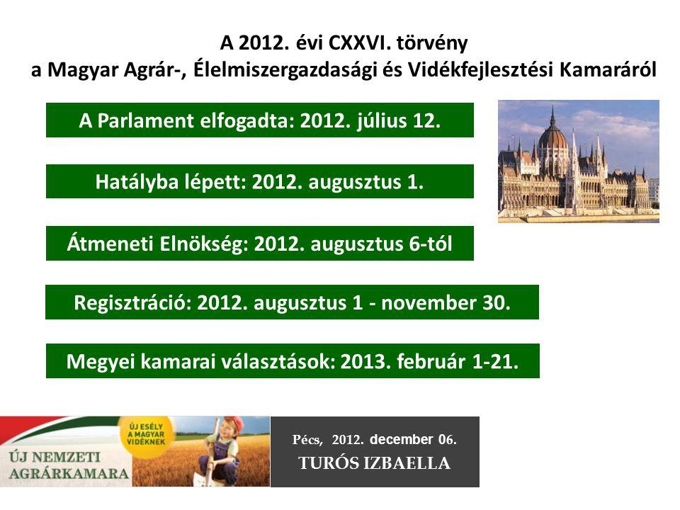 a Magyar Agrár-, Élelmiszergazdasági és Vidékfejlesztési Kamaráról