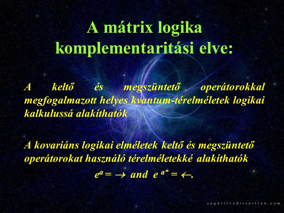 A mátrix logika komplementaritási elve: