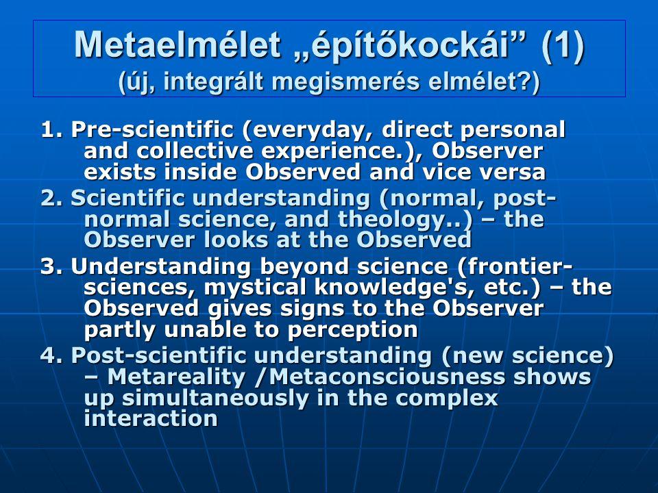 """Metaelmélet """"építőkockái (1) (új, integrált megismerés elmélet )"""