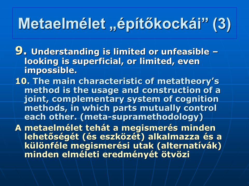 """Metaelmélet """"építőkockái (3)"""