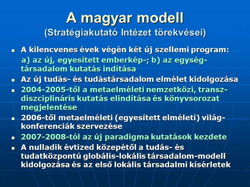 A magyar modell (Stratégiakutató Intézet törekvései)