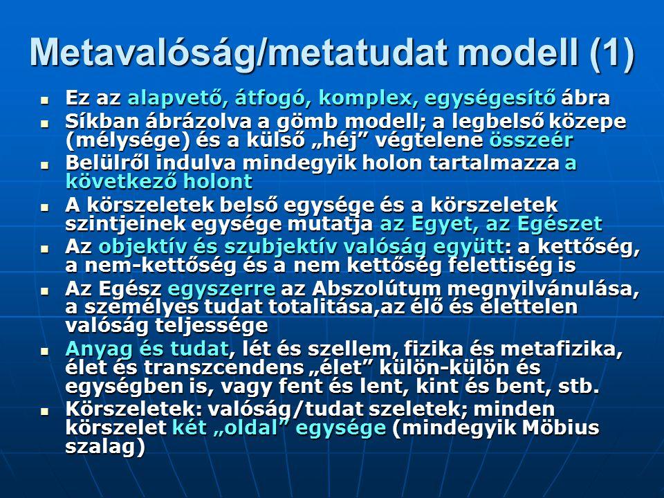 Metavalóság/metatudat modell (1)