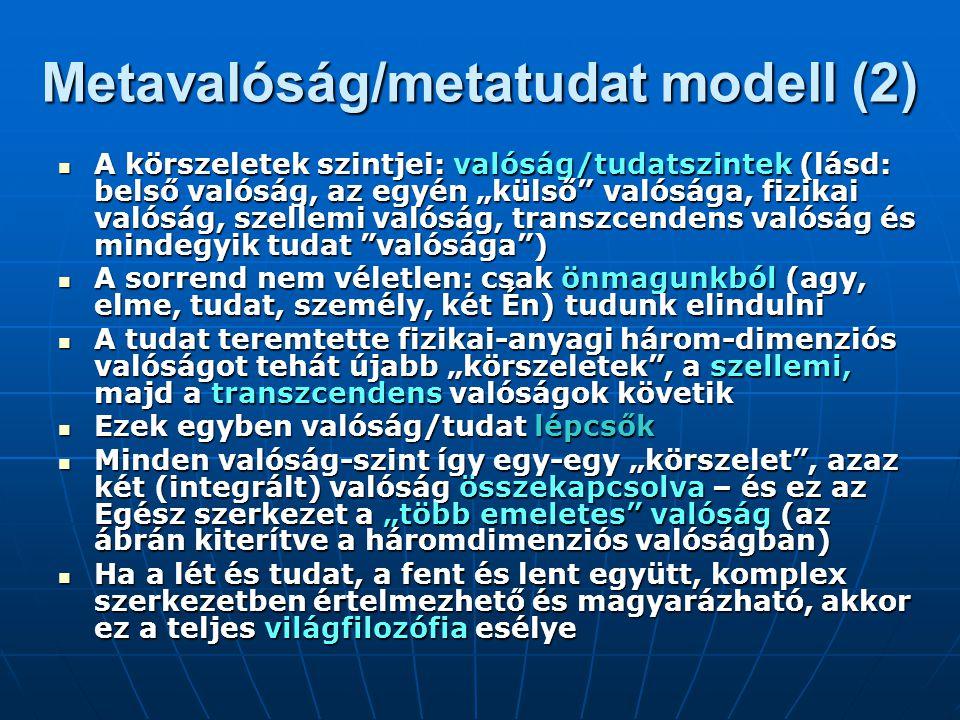Metavalóság/metatudat modell (2)