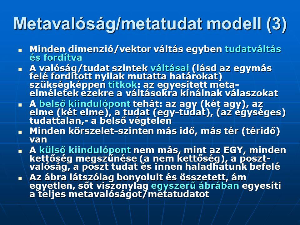 Metavalóság/metatudat modell (3)