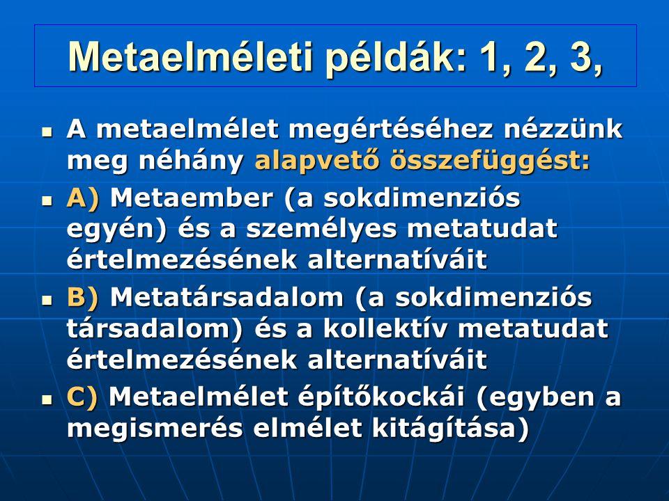 Metaelméleti példák: 1, 2, 3, A metaelmélet megértéséhez nézzünk meg néhány alapvető összefüggést: