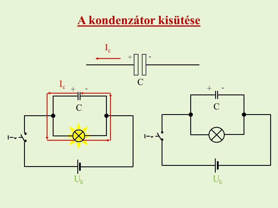 A kondenzátor kisütése