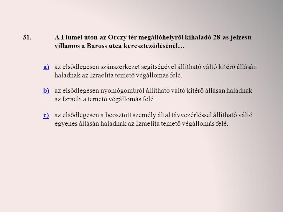 31. A Fiumei úton az Orczy tér megállóhelyről kihaladó 28-as jelzésű villamos a Baross utca kereszteződésénél…
