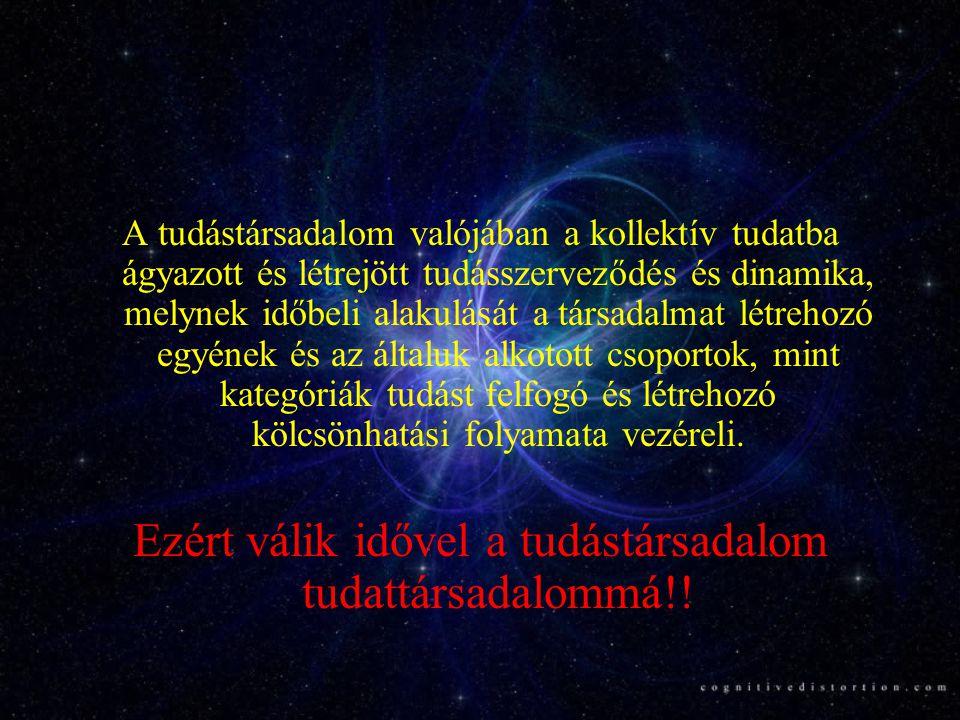 Ezért válik idővel a tudástársadalom tudattársadalommá!!